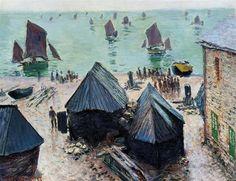 CLAUDE MONET — The Departure Of The Boats, Etretat  1885   Claude...