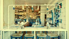 Greco is an authentic Greek restaurant in Ezorei Chen, a residential neighborhood in the north of Tel Aviv, which draws from the age-old Greek tradition of love for great food in company with other… Restaurant Identity, Restaurant Design, Restaurant Bar, Cafe Design, Interior Design, Store Design, Tel Aviv Israel, Greek Restaurants, Design Research