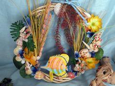Tropical decor beach wreath_tropical fish by CarmelasCoastalCraft