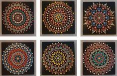 30 x 30 cm. Dots, Hand Painted, Canvas, Holiday Decor, Painting, Design, Home Decor, Tela, Homemade Home Decor