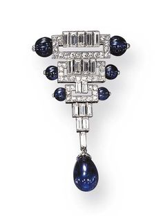 Broche, saphirs, diamants, Boucheron, 1925