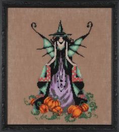 Luna Bewitching Pixie is the title of this cross stitch pattern from Nora Corbett. Here are the links to order the 32 Ct or 16 Ct fabric, Mi...