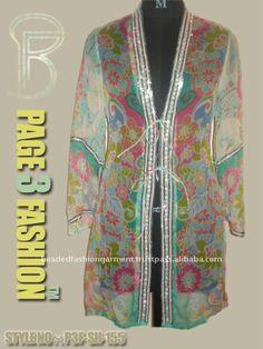 Chiffon di perline giacche/elegante indiano ricamato giacca - italian.alibaba.com