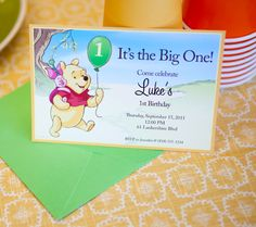 Winnie the Pooh Printable Birthday Party Invitations