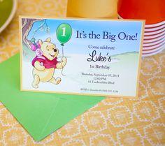 Winnie the Pooh Printable Birthday Party Invitations