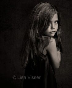 Lisa Visser  //Beautiful portrait, but it makes me restless... little girl is so fragile, but poses like an adult. It's disturbing, maybe intentionally by the artist or maybe it's in my own broken mind with the memory of lost innocence of a little girl.