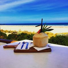 Come try my new specialty cocktail! Fresh Coconut Pina Colada! Perfect treat while you're beachside.