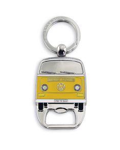 VW Bus T2 Key Ring with Bottle Opener - Yellow Bay Window #cartunning Volkswagen Bus, Vw Bus T2, Vw T1, Vw Camper, Campers, Orange, Yellow, Vanz, Bus Life