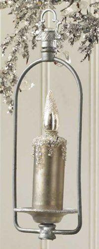 Amazon.com - Vintage Look Candle Ornament (Dark Silver) - Christmas Ornaments