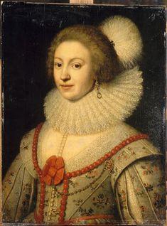 Michiel Van Mierevelt (atelier de) | Portrait de femme dit autrefois Portrait d'Elisabeth Stuart, reine de Bohême | Images d'art