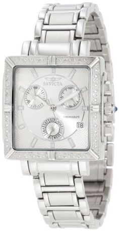 Best Buy Invicta Womens 5377 Square Angel Diamond Stainless Steel Chronograph Watch at http://get.nazuka.net/review/product.php?asin=B001QFZWW4