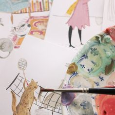 Behind the scenes of The Adventures of Miss Petitfour with illustrator Emma Block. Click to see more of her beautiful illustratoins on Emma's instagram.