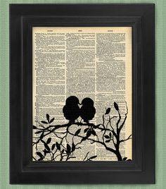 Jedermann kann Liebe Liebe Vögel Vögel Kunstdruck von HelloUwall