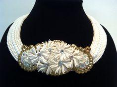 Vintage Escutcheon necklace adorned with vintage by N2Vintaj, $100.00