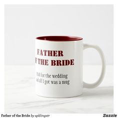 Wedding Gifts For Parents, Wedding Gifts For Groom, Bride Gifts, Wedding Mugs, Wedding Wall, Father Of The Bride, Father Father, Cute Mugs, Parent Gifts