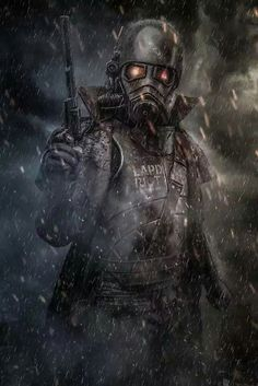 Designed by a fan of the Fallout series and is not copyright breach of Bethesda or Zenimax. Fallout Franchise is an entity of Bethesda and I do not own any rights. Fallout New Vegas, Fallout Funny, Fallout Fan Art, Fallout Concept Art, Cosplay Fallout, Bioshock Cosplay, Ncr Ranger, Fallout Wallpaper, Post Apocalyptic Art