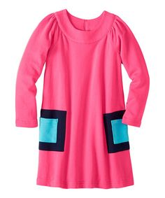 Loving this Pink Garden Modern Art Pocket Dress - Infant, Toddler & Girls on #zulily! #zulilyfinds