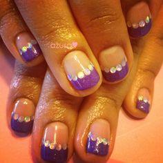purple french❤ by azusa - Nail Art Gallery nailartgallery.nailsmag.com by Nails Magazine www.nailsmag.com #nailart