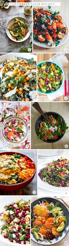 1. Avocado, Grapefruit, and Edamame Salad, Joy the Baker // 2. Grilled Watermelon and Peach...