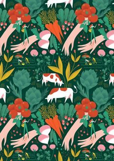 Textures Patterns, Color Patterns, Vegetable Illustration, Poster Colour, Dog Car, Food Illustrations, Editorial Design, Beautiful Birds, Pattern Design