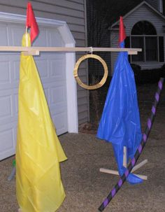 Crack of Dawn Crafts: Knight Party Game: Joust Practice With Lances!