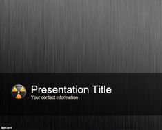 Nuclear Medicine PowerPoint Template is a free nuclear medicine background for Power Point presentations with a gray background and nuclear logo image