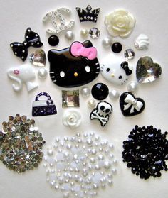 DIY Hello Kitty Bling Bling Flatback Resin Deco Kit / by lilysu, $16.99