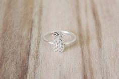 Pineapple ring, pineapple rings, pineapple ring, sterling silver ring, silver pineapple, pineapple stacking ring, pineapple summer ring by CallieJewelry on Etsy https://www.etsy.com/listing/228522246/pineapple-ring-pineapple-rings-pineapple