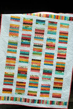 PDF Quilt Pattern ...Quick and Easy ...Layer Cake or Fat Quarters or Scraps ...Simply Stripy. $9.00, via Etsy.