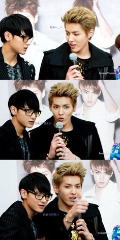 Tao and Kris! Is it just me or does everyone in SM have glasses?