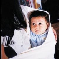 Baby in sling - baby wearing ... In order to be successful  a baby must be nurtured in their natural habitat which is you .