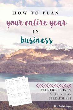 If you're a mom in business, you know that productivity and time management is essential. That's why one of my very best tips is planning ahead. In this post, I'll outline the four steps to map and plan out your entire year in business - from your big goals down to the mundane tasks. With this plan in place, you'll be so much more efficient and productive if you can sit down and get to work rather than trying to decide what project to move on to next each time you finish one. Click through…