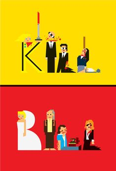 KILL BILL - Creative Design of Movie Fan Art  - By Carlitos Salazar - Celebrating 10 Years of Kills https://www.facebook.com/KillBillMovie