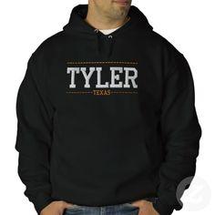 Tyler Texas USA Embroidered Hoodies
