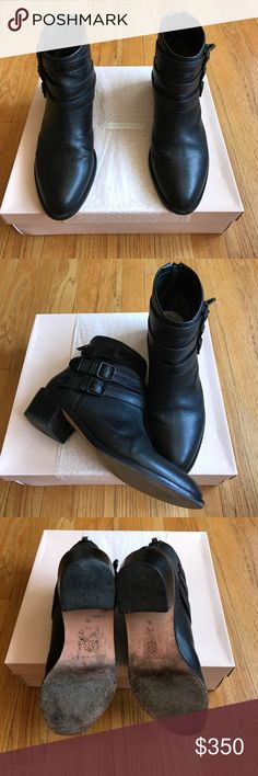 Loeffler Randall Fenton Buckle Booties Extremely popular staple bootie! Black on black version. Worn about 10-15 times but still in excellent condition. Original box will be included. Loeffler Randall Shoes Ankle Boots & Booties