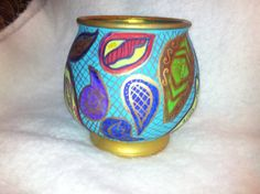 Hand Painted Bohemian Multi Colored Glass by NanabugsTreasures, $19.00