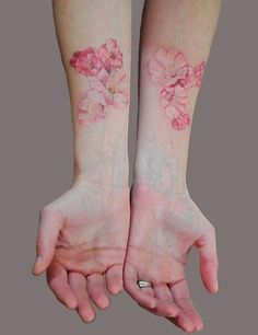 Floral watercolour tattoo