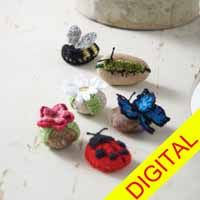 Garden Buddies #Rock Cozies Digital #Crochet Pattern from Love of Crochet magazine, Spring 2015