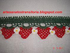 ARTESANATOS TRANSITÓRIA: crochê - bicos