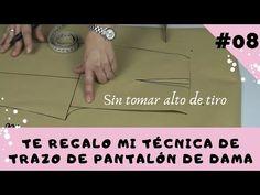 #08 😏Trazo de Pantalón de Dama SIN TOMAR ALTO DE TIRO/🎁📐📏Regalo incluido - YouTube Sewing Patterns, Album, Youtube, Reading, Videos, Blog, Palazzo, Tutorials, Sewing School