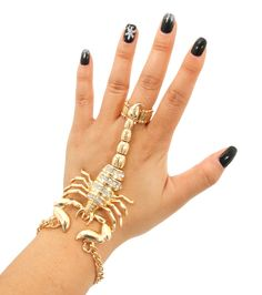 Scorpion Hand Chain - BadChickJewelry