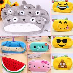 Kawaii Japan Totoro plush cartoon pencil case stationery wholesale Large pencil…