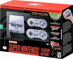 Are you interested in upcoming Nintendo home console video games? If so, this is the right place for the Nintendo console. Don't waste your time, take a look to the related page of New Nintendo Super NES Classic Edition Playstation, Xbox, Nintendo Super Nes, Buy Nintendo, Nintendo Nes Classic Edition, Snes Classic Edition, Consoles, Donkey Kong, Entertainment
