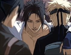 Saskue, Naruto, and Sai by the oh, so perfect, amazing, talented and gorgeous artist; Lily!<3