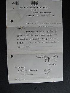 WW1 ANZAC SERVICEMAN    C A Bryceland 43 Gardner St Richmond