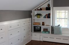 Bedroom built-ins in newly finished attic. HCBA - Driehaus Gallery Kiper