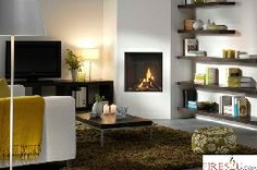 The Venteo is the smaller version of the Passeo. Fireplace Showroom, Fireplace Design, Contemporary Gas Fires, Flueless Gas Fires, Natural Gas Fireplace, Log Fires, New Kitchen, Design Inspiration, Living Room