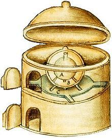 """ALCHEMY athanor, a furnace used to provide a uniform and constant heat for alchemical digestion. It was also called Piger Henricus (""""Slow Harry""""), because it was chiefly used in slower operations, and because when once filled with coals, it keeps burning a long time without being attended to constantly."""