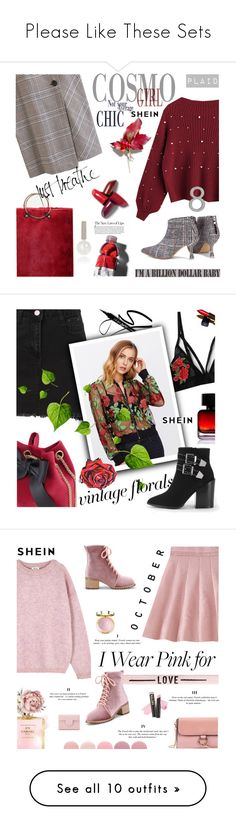 """Please Like These Sets"" by lacas ❤ liked on Polyvore featuring CB2, Sweater, plaid, shein, The Collection by Phuong Dang, Chanel, vintage, vintageflorals, Acne Studios and Deborah Lippmann"
