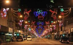 Most cities around the country proudly display Christmas lights